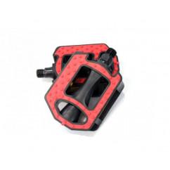 """Педали велосипедные пластмассовые (MTB),mod:HS-JD-65 (9/16"""") цвет:синий,красный,серый"""