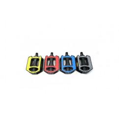 Педали велосипедные пластмассовые (MTB),mod:HS-JD-52 (9/16') цвет:синий,красный,серый