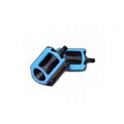 Педали велосипедные пластмассовые (MTB),mod:HS-JD-65 (9/16') цвет:синий,красный,серый