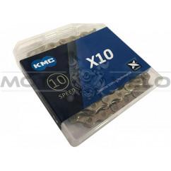 Цепь горная КМС Х10 1/2'x11/128 (gold/gold с замком, 10 скоростей, 116 звеньев)