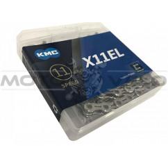 Цепь горная КМС Х11EL 1/2'x11/128 (silver/silver, с замком, 11 скоростей, 118 звеньев)