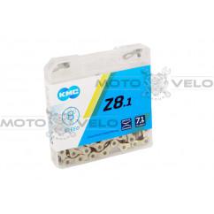 """Цепь горная в пластиковой упаковке """"КМС Z8"""" 1/2""""x3/32 (хромированная,с замком,8 скоростей,114 звеньев) (#MD)"""