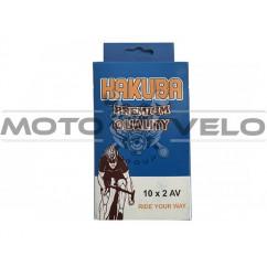 Камера велосипедная 10x2.0 'Hakuba' (A.V)
