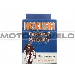 Камера велосипедная 20x1.75/2.125 'Hakuba' (A.V)
