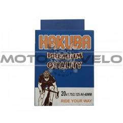 Камера велосипедная 20x1.75/2.125 'Hakuba' (A.V48mm)