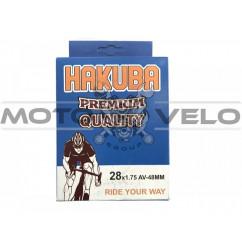 Камера велосипедная 28x1.75 'Hakuba' (A.V48mm)