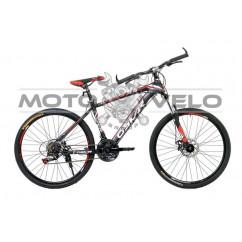 Велосипед Oskar 26' X6 черно-красный