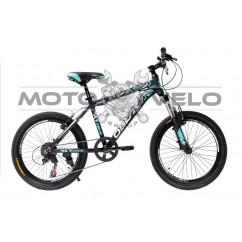Велосипед Oskar 20' SCARP черно-голубой