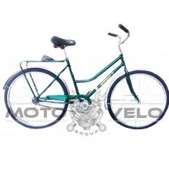 """Велосипед дорожный """"Фермер"""" -28-женская рама (зеленый/синий)"""