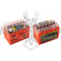 АКБ 12V 4А гелевый (114x71x88, оранжевый, с индикатором заряда, вольтметром) OUTDO