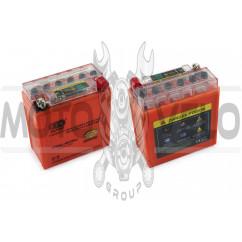 АКБ 12V 5А гелевый (высокий) (119x60x128, оранжевый, с индикатором заряда) OUTDO