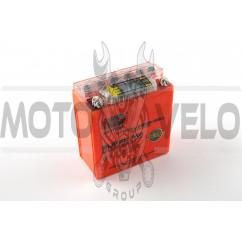 АКБ 12V 5А гелевый (высокий) (119x60x128, оранжевый, с индикатором заряда, вольтметром) OUTDO