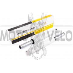 Перья вилки Honda DIO (барабанный тормоз, гидравлические) (белые) MANLE