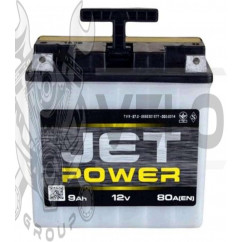 АКБ мото 12V 9А (заливной) JET POWER (под болт) (#VOV)