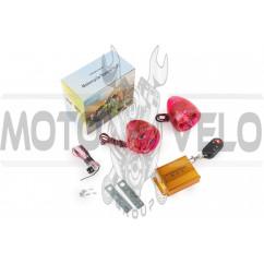 Аудиосистема BEST CHOICE (2.5, прозрач.-красная, подсветка, сигн., МР3/FM/SD/USB, ПДУ, разъем ППДУ 3K)