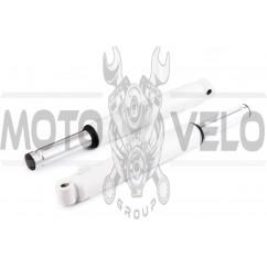 Перья вилки Honda DIO (барабанный тормоз, гидравлические) (белые)