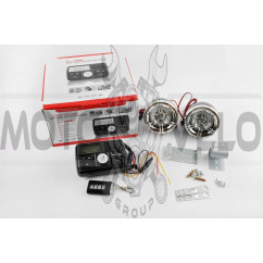 Аудиосистема (3, черные, сигнализация, МР3/FM/USB/SD, ПДУ, ЖК дисплей) ZUNA