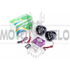 Аудиосистема (3, черные, сигн., МР3/FM/MicroSD/USB, ПДУ, разъем ППДУ 3.5mm) MANLE