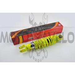 Амортизатор JOG 250mm, регулируемый (лимонный +паутина)