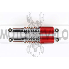 Амортизаторы (пара) Delta 340mm, регулируемые (хром, длинный красный стакан) RUIKAI