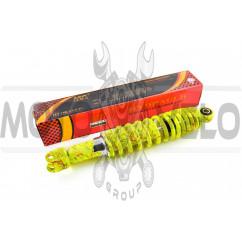 Амортизатор GY6, DIO ZX, LEAD 310mm, регулируемый (лимонный +паутина) NDT