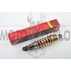 Амортизатор JOG 250mm, регулируемый (дымчатый, золотистая пружина) NDT