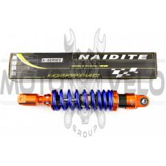 Амортизатор GY6 350mm, тюнинговый (оранжево-синий) NDT