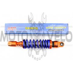 Амортизатор GY6, DIO, LEAD 290mm, тюнинговый (оранжево-синий) NDT