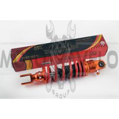 Амортизатор GY6, DIO, TACT 270mm, тюнинговый, с подкачкой (оранжево-красный) NDT
