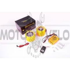 Аудиосистема (2.5, желтые, сигнализация, FM/МР3 плеер, ПДУ) CZMP3005-1