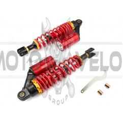 Амортизаторы (пара) универсальные 320mm, газомасляные (красные) NET (#0001)