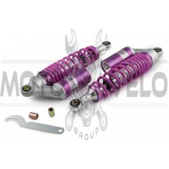 Амортизаторы (пара) универсальные 320mm, газомасляные (фиолетовые) NET