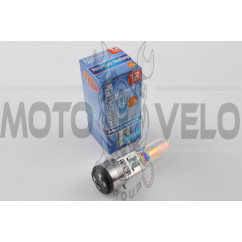 Лампа BA20D (2 уса)   12V 50W/50W   (хамелеон радужный)   BEST   (mod:A)