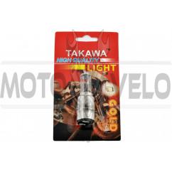 Лампа BA20D (2 уса) 12V 35W/35W (белая, высокая) (блистер) TAKAWA