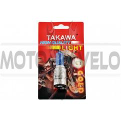 Лампа BA20D (2 уса) 12V 35W/35W (супер белая, высокая) (блистер) TAKAWA