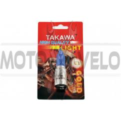 Лампа BA20D (2 уса) 12V 35W/35W (супер белая, высокая, конусная) (блистер)