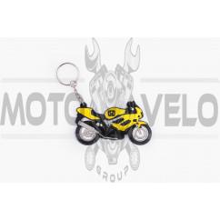 Брелок резиновый байк HONDA (желтый) (#YSK014)