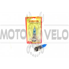 Лампа BA20D (2 уса) 12V 100W/100W (супер белая) (блистер) 3MV6