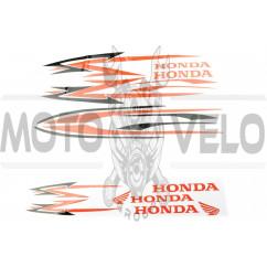 Наклейки (набор) Honda (27х18см, 12шт) (#0058)