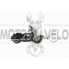 Брелок резиновый байк HARLEY-DAVIDSON (черный) (#YSK131)