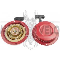 Стартер ручной (в сборе) м/б, бензогенератора 168F/170F (6,5/7Hp, D-150mm) (металлический) JIANTAI