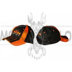 Бейсболка KTM RACING (черно-оранжевая, 100% хлопок)