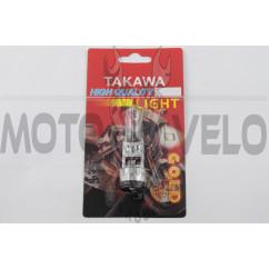 Лампа BA20D (2 уса) 12V 18W/18W (белая) (блистер) TAKAWA (mod:A)