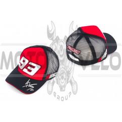 Бейсболка 93 (черно-красная)