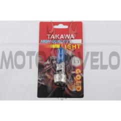 Лампа BA20D (2 уса) 12V 35W/35W (супер белая) (блистер) TAKAWA (mod:A)
