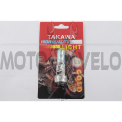 Лампа BA20D (2 уса) 12V 35W/35W (хамелеон радужный) (блистер) TAKAWA (mod:A)