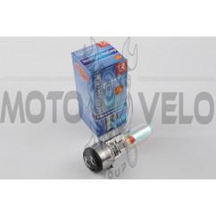 Лампа BA20D (2 уса) 12V 35W/35W (хамелеон розовый) BEST (mod:A)