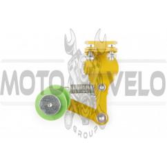 Натяжитель цепи трансмиссии с роликом (универсальный, желтый) XJB