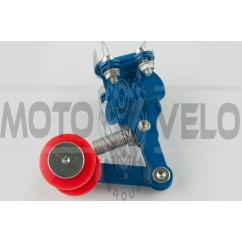Натяжитель цепи трансмиссии с роликом (универсальный, синий) XJB