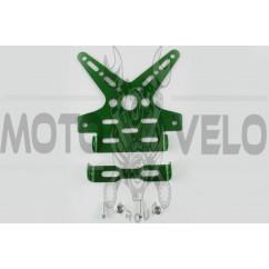 Рамка для крепления номера и поворотников с регулируемым углом наклона (зеленая) XJB